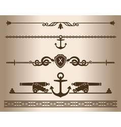 Decorative elements - ship gun vector