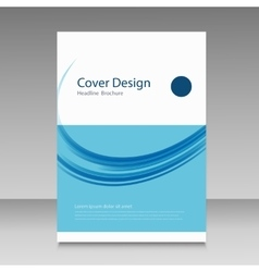 Abstract cover brochure background vector image