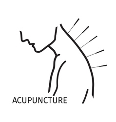 Acupuncture logo icon in line style vector