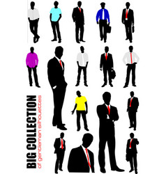 Big collection of gentlemen in office over white vector