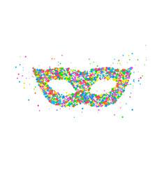 carnival mask pattern vector image vector image