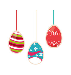 colorful easter eggs icon design vector image