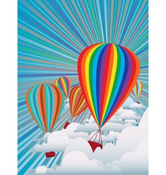 Colorful hot air balloons vector