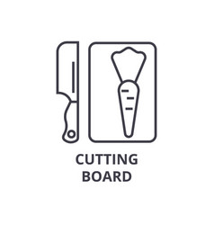 cutting board line icon outline sign linear vector image
