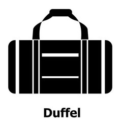 duffel icon simple black style vector image