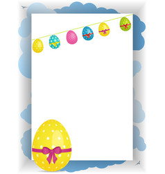 easter portrait panel copy space with bunting and vector image