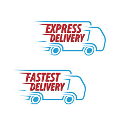 express delivery fastest delivery icon set vector image vector image