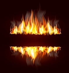 fire borders vector image vector image