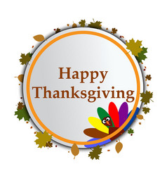 flat design style happy thanksgiving day vector image vector image