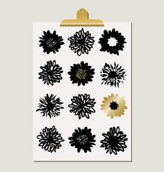 Flower blossoms poster vector