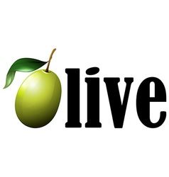 Font design with word olive vector