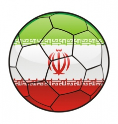iran flag on soccer ball vector image vector image