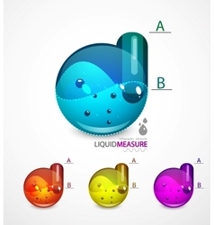 Liquid measure elements vector