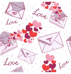 Love letter Valentine seamless texture vector image vector image