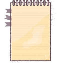 Notebook with floral vector image vector image