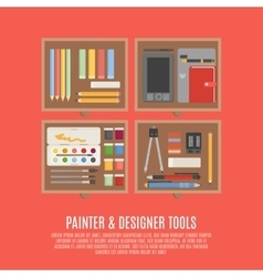 Painter And Designer Tools Concept vector image vector image