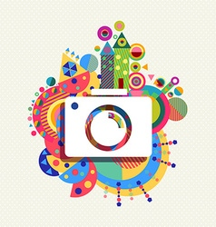 Photo Camera icon vibrant colors vector image
