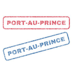 port-au-prince textile stamps vector image vector image