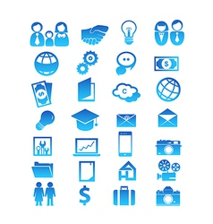 Set for 28 icon design vector image vector image