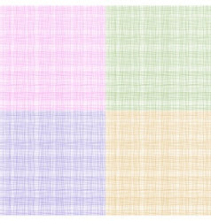 Set of colorful thread fabric texture vector image vector image