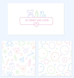 Set of design elements of baby theme vector image vector image