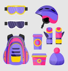 skiing snowboarding accessories - helmet vector image