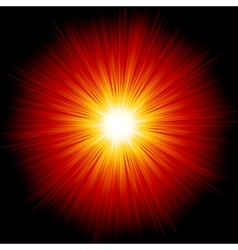 Star burst red and yellow fire EPS 10 vector image