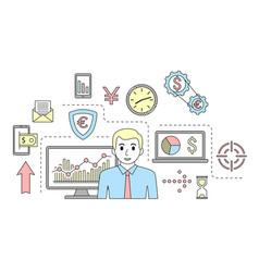 stock market trade concept financial forex vector image