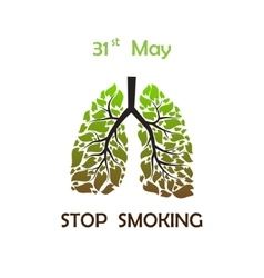 Stop smoking background vector