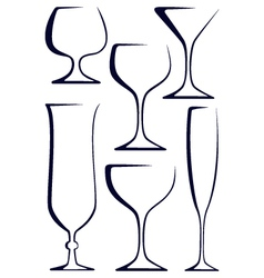 Stylized glasses vector image vector image