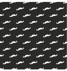 Tile mustache pattern or background vector image vector image