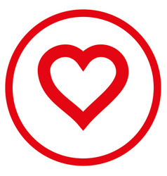 valentine heart rounded icon vector image