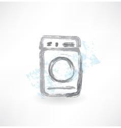 washing machine grunge icon vector image vector image