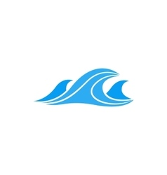 Sea waves icon simple style vector