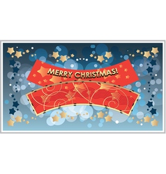 Greetings template merry christmas vector