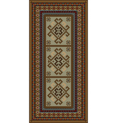 Vintage motley carpet with ethnic ornaments and be vector