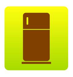 Refrigerator sign   brown icon vector