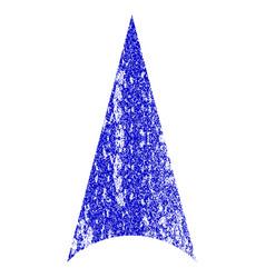 Arrowhead up grunge textured icon vector