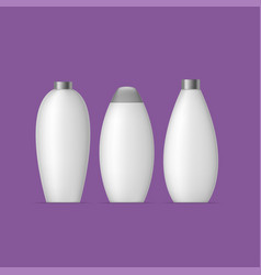 white bottle set vector image