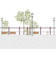 Stylized park scene vector