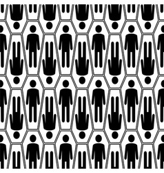 Black and white Halloween seamless pattern vector image