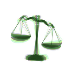 Scales of justice sign  colorful icon vector