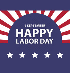 happy labor day usa retro vintage poster with vector image