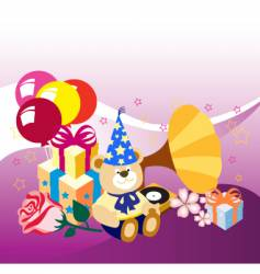 Toys birthdays vector