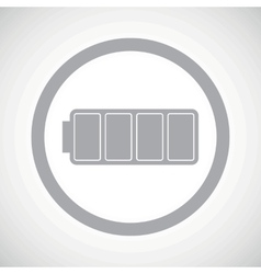 Grey full battery sign icon vector