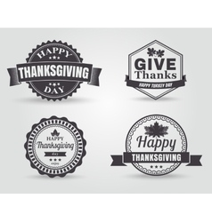 Happy thanksgiving badges and labels vector