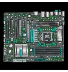 Hand drawn motherboard vector