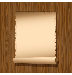 Old paper wooden vector