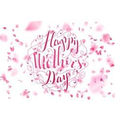Happy mothers day spring typographical background vector