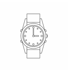 Swiss watch icon outline style vector